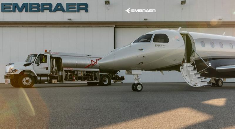 Embraer e Avfuel colaboram para levar combustível sustentável de aviação Neste MY SAF ao aeroporto na Flórida