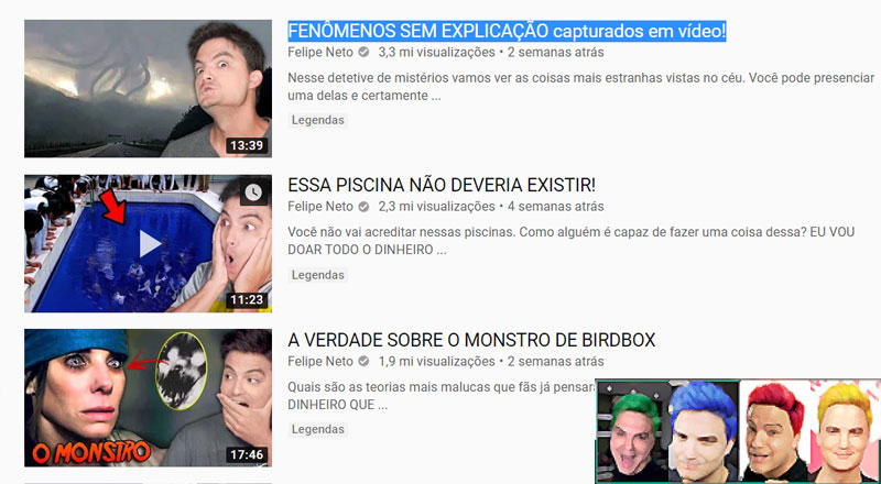 Felipe Neto influenciador ou bufão do youtube?