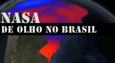 Brasil, seca extrema vista do Espaço