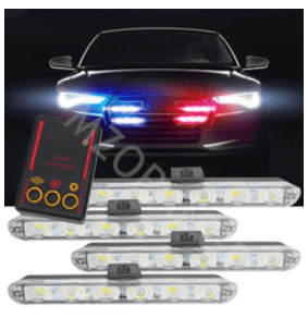 Iluminação intermitente de segurança para seu carro.