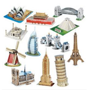 Quebra cabeças nos mais variados modelos e tamanhos, até 3D você pode ter!
